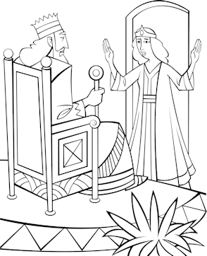 Esther bible coloring pages ~ Queen Esther Bible Coloring Pages Sketch Coloring Page