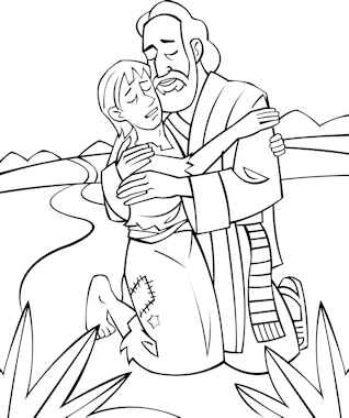 Preschool coloring pages - The Prodigal Son