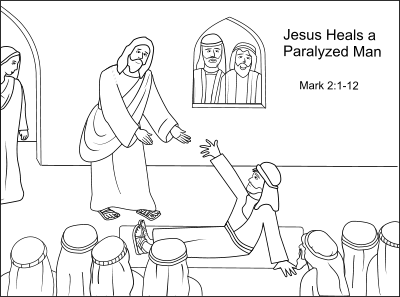 jesus heals a paralyzed man craft