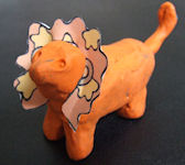 clay lion small